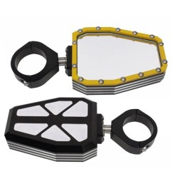 billet aluminum side mirrors with yellow bezel 1 3 4 [ 1000 x 1000 Pixel ]
