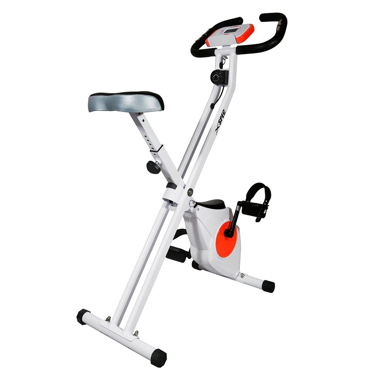 Xspec Foldable Stationary Upright Exercise Bike Cardio