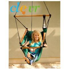 Hanging Sky Chair Reclining Shower New Deluxe Hammock Patio Tree Swing