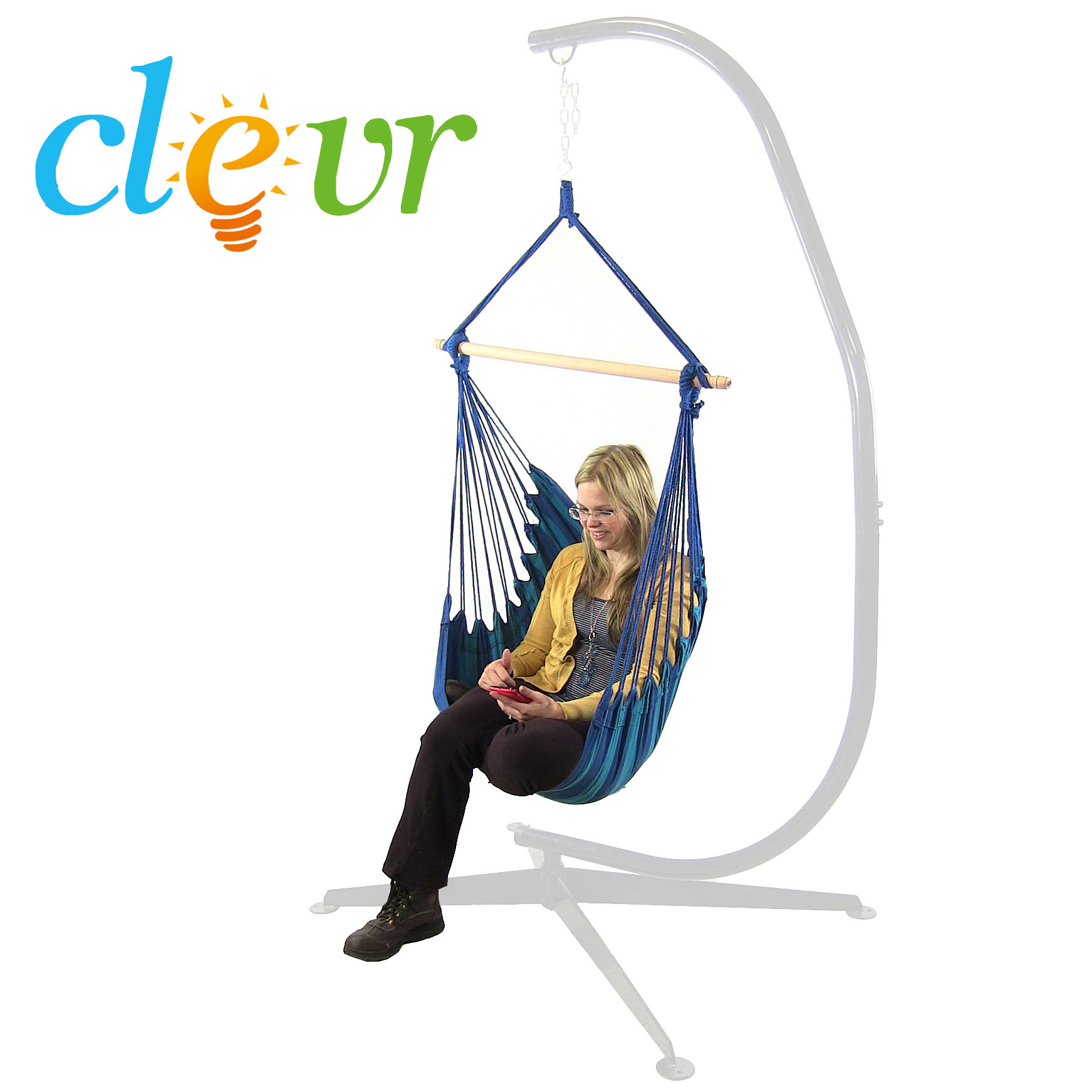 hanging tree swing chair white leather dining new deluxe 38 quot hammock patio sky
