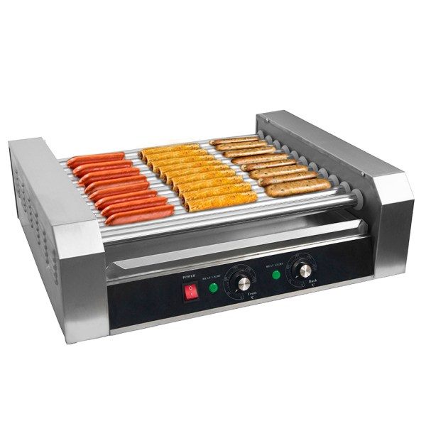 Clevr Commercial Hot Dog Machine 11 Roller And 30 Hotdog Grill Cooker Warmer