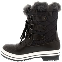 Womens Snow Boot Nylon Short Winter Snow Fur Rain Warm ...