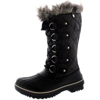 Womens Sorel Tofino Leather Snow Black Winter Fur Lace Up ...
