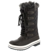 Ladies Snow Boot Nylon Tall Winter Waterproof Fur Lined ...