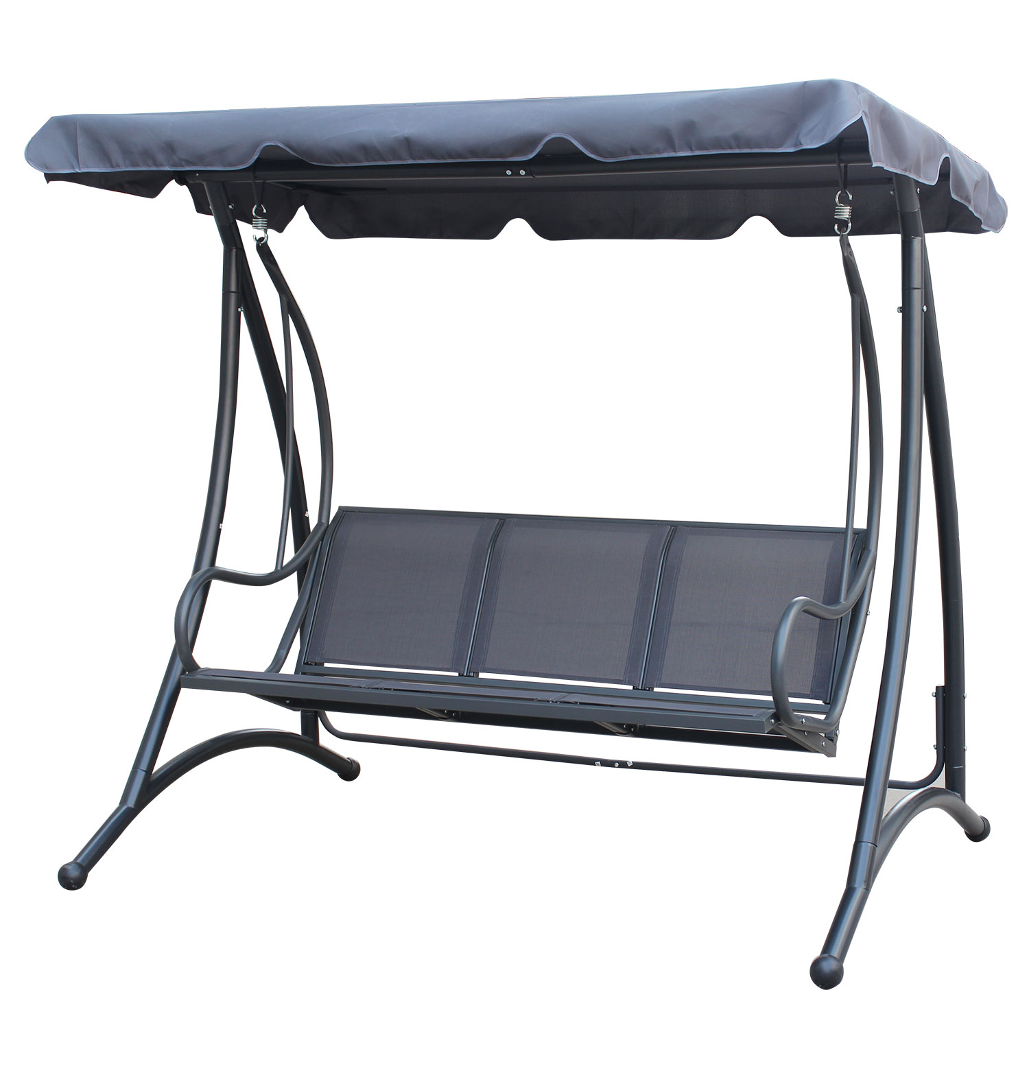 swing chair grey lightest fishing on the market charles bentley 3 seater outdoor seat bench