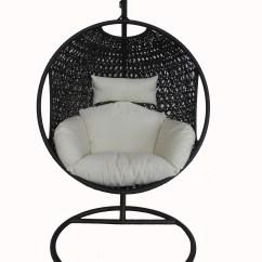 Hanging Chair Home Goods Restoration Hardware Swivel Charles Bentley Patio Outdoor Black Rattan Swing