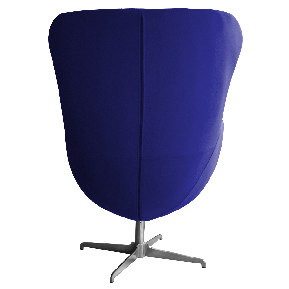blue egg chair armless ikea retro arne jacobsen inspired designer swivel wool