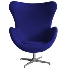 Blue Egg Chair Patio Covers Calgary Retro Arne Jacobsen Inspired Designer Swivel Wool