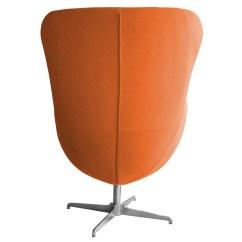 Vintage Egg Chair Toddler Leather Recliner Retro Arne Jacobsen Inspired Designer Swivel Wool