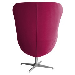 Pink Egg Chair Replica Oversized Chairs With Ottomans Retro Arne Jacobsen Inspired Designer Swivel Wool