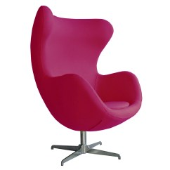 Pink Egg Chair Replica Hanging Hammock For Two Retro Arne Jacobsen Inspired Designer Swivel Wool
