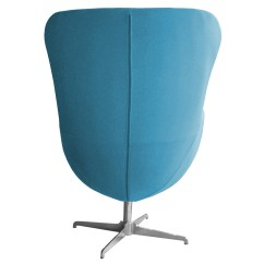 Swivel Chair Egg Club Fun Hanging Rope Retro Arne Jacobsen Inspired Designer Wool