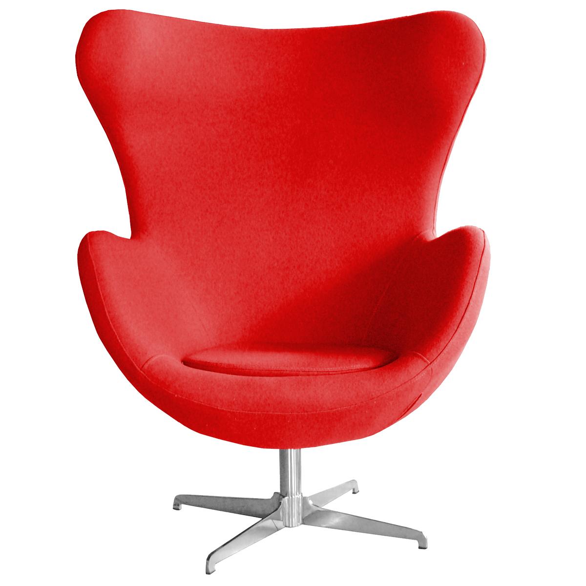 swivel chair egg ergonomic footrest retro arne jacobsen inspired designer wool