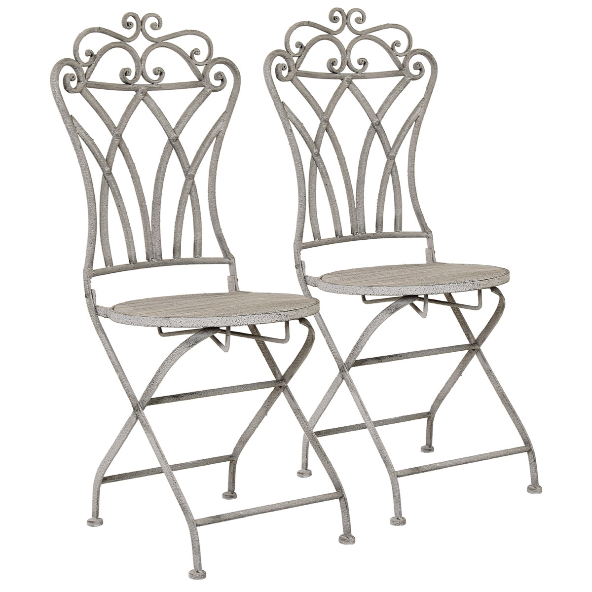 folding metal yoga chair foam bed charles bentley florence chairs pair bistro