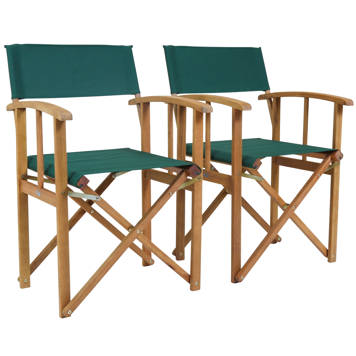 folding directors chairs chair rail beadboard paneling charles bentley pair of wooden