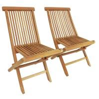 Charles Bentley Pair Of Solid Wooden Teak Outdoor Folding ...