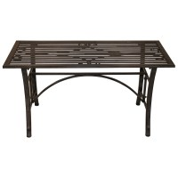 Charles Bentley Wrought Iron Coffee Table Outdoor Patio ...