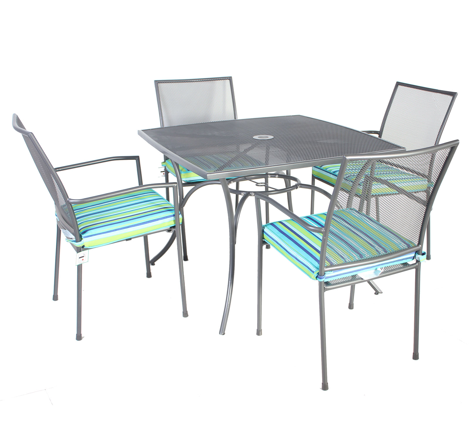 Mesh Patio Chairs Charles Bentley Outdoor Metal Mesh 5 Piece Table And