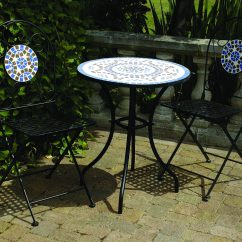 Blue Bistro Chairs Little Tikes Table And Set Toys R Us 3 Piece Mosaic Garden Furniture Patio Round