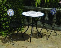 3 Piece Mosaic Bistro Garden Furniture Patio Set
