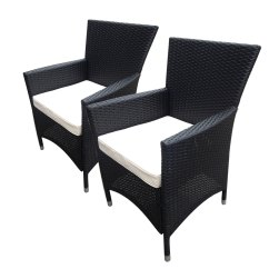 Rattan Arm Chair Long Shower Bentley Garden Indoor Outdoor Pair Of Armchairs 2