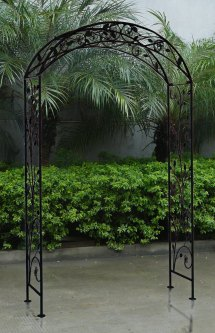 Bentley Garden Wrought Iron Arch Outdoor Archway