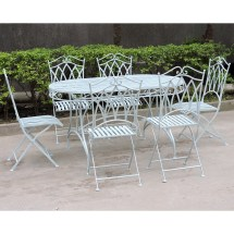 Charles Bentley Garden 7 Piece Wrought Iron Furniture Set
