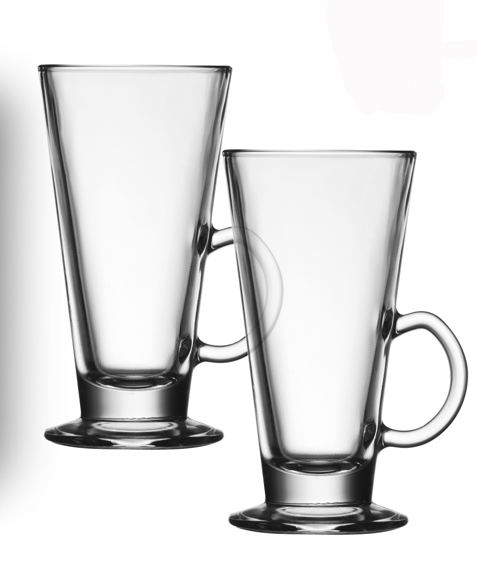I Style Cafe Latte Coffee Glasses Set Of 2 Glass Mug Hot Drink Beverage T New