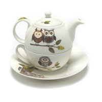 Roy Kirkham RSPB Woodland Owl Tea for One Teapot Cup ...
