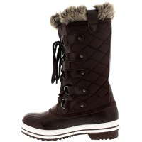 Womens Snow Boot Nylon Tall Winter Fur Lined Snow Warm ...