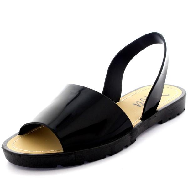 Womens Peep Toe Festival Sling Flip Flops Slides
