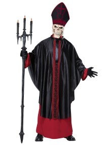 Black Mass Zombie Religious Priest Pope Skull Horror