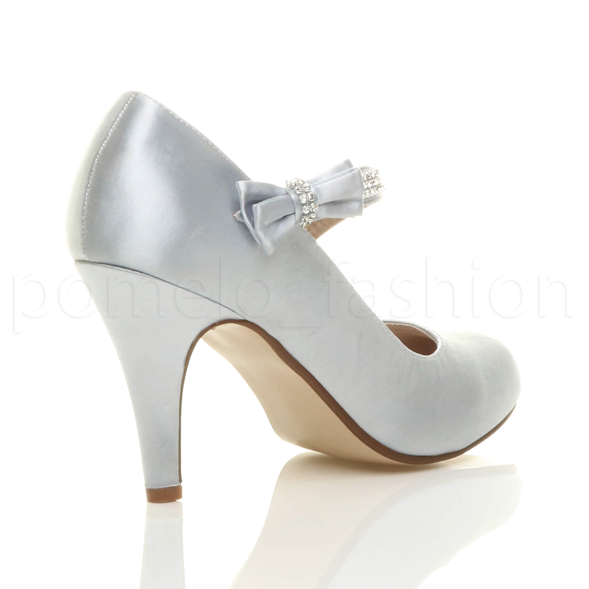 Zapatos De Mujer Para Bailes De Salon Womens Ladies Bridal Wedding Prom Party High Heel Classic
