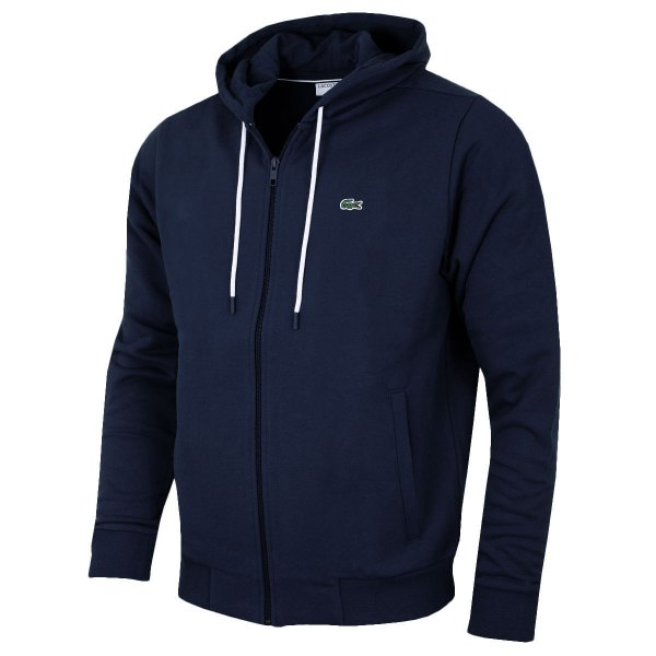 Lacoste Mens Full Zip Cotton Fleece Hoody Sh1933 Hoodie