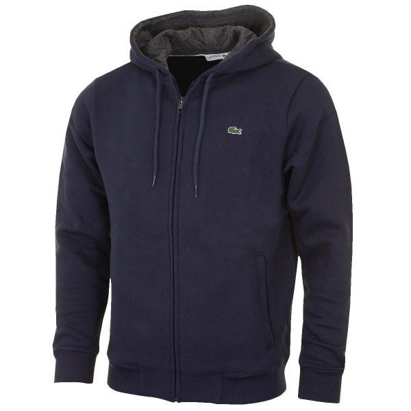 Lacoste 2016 Mens Full Zip Long Sleeve Hoody Hooded Jacket