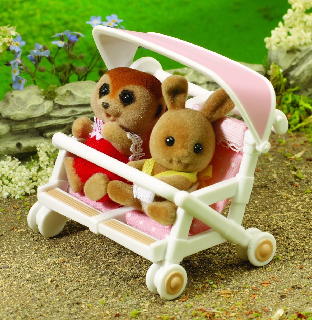 Critter Chair Sylvanian Families Double Pushchair Ebay