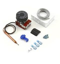 universal 12v 0120 deg adjustable electric thermo fan switch kit [ 1600 x 1600 Pixel ]