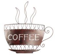 Contemporary Metal Wall Art - Coffee Cup | eBay