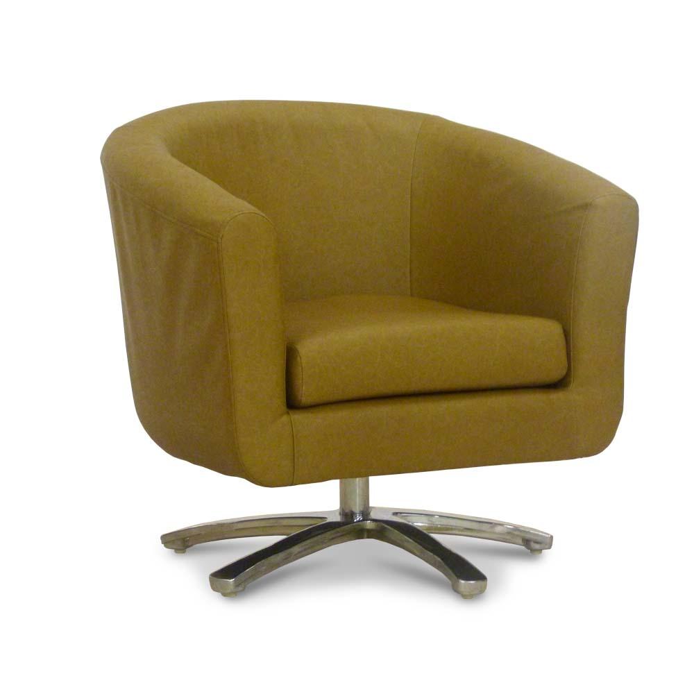 Swivel Leather Tub Chair  Bucket Seat  Lounge Furniture