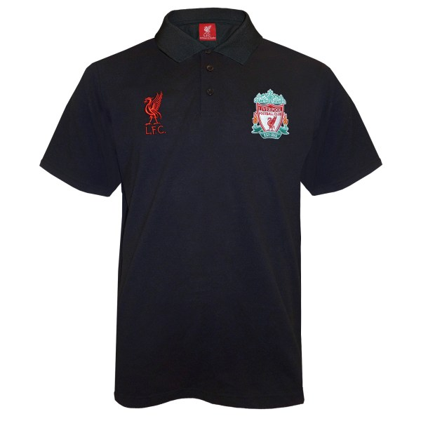 Liverpool Fc Official Football Mens Crest Polo Shirt