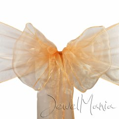 Wedding Chair Covers With Bows Chaira 1 10 25 50 100 Organza Sashes Cover