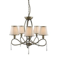 SEARCHLIGHT SIMPLICITY BRASS 5 ARM CHANDELIER CEILING ...
