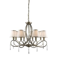 SEARCHLIGHT SIMPLICITY BRASS 8 ARM CHANDELIER CEILING ...