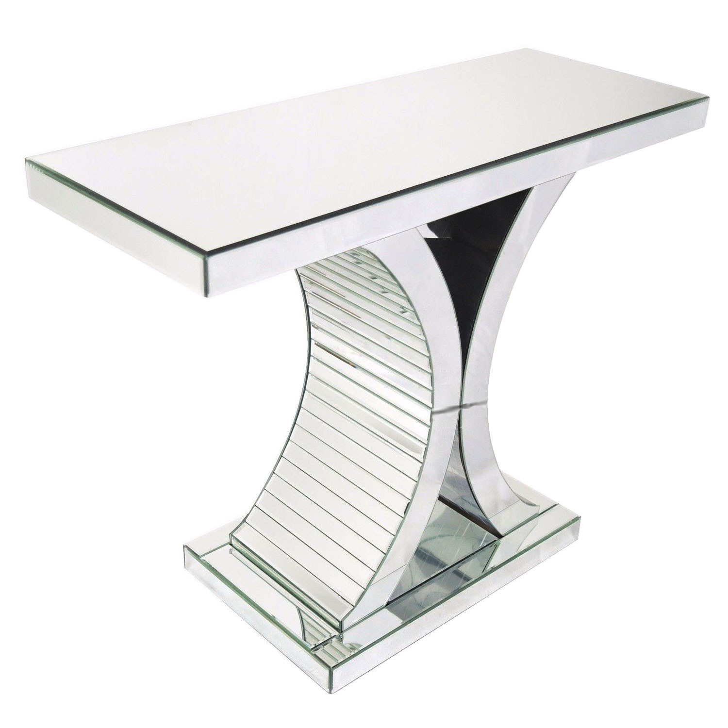 living room console tables mirrored home decor ideas apartment glass x shape table hallway desk side details about