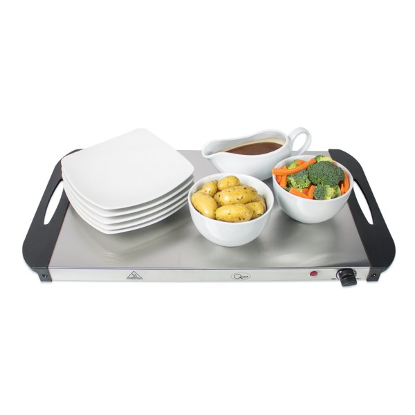 Buffet Server Warming Tray Hotplate With 3 Sections Food