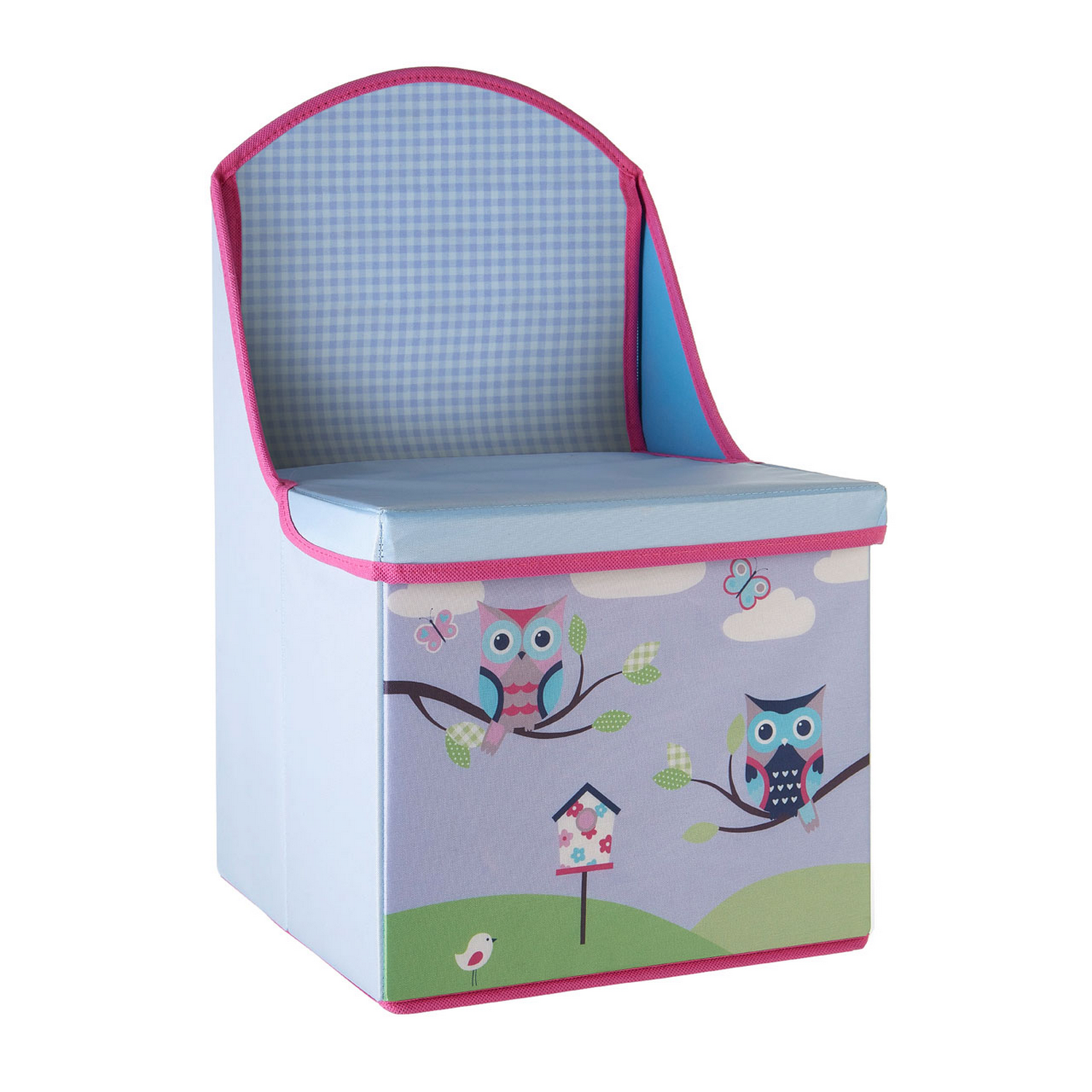 owl chair for kids wedding cover hire buckinghamshire polyester ottoman toy storage box seat pouffe stool