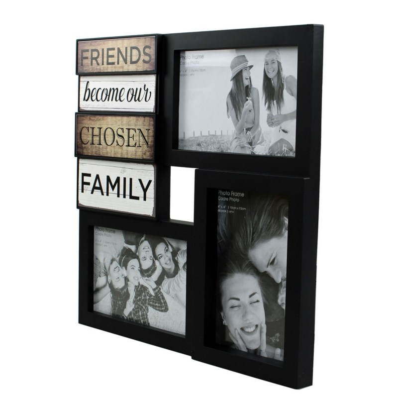 Black Friends Multi Photo Frame Frameswalls