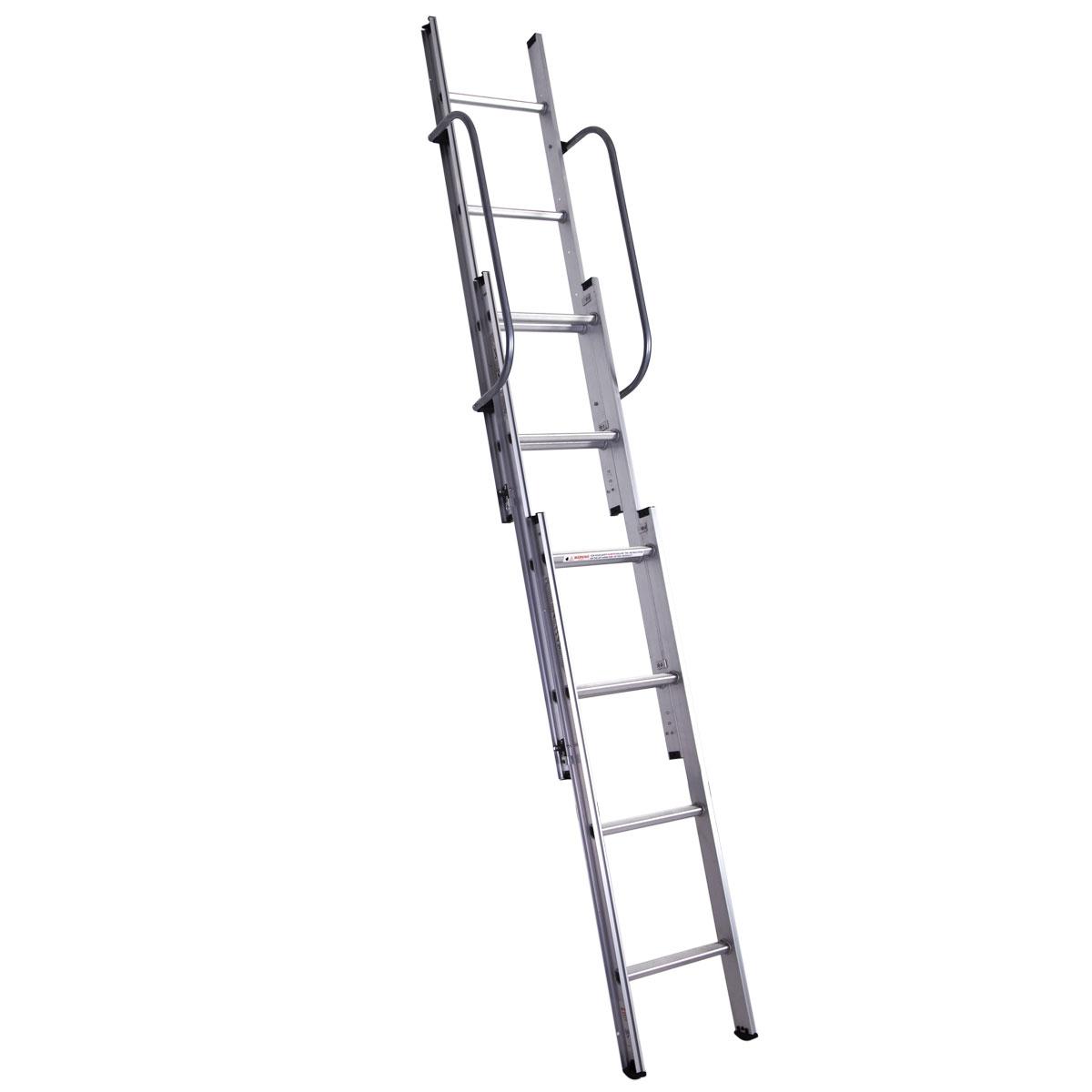 Aluminium Folding Loft Ladder Telescopic 3 Sections 3 1m