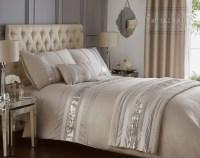 Luxury Sequin Glitter Stripe Duvet Quilt Cover Bedding Set ...