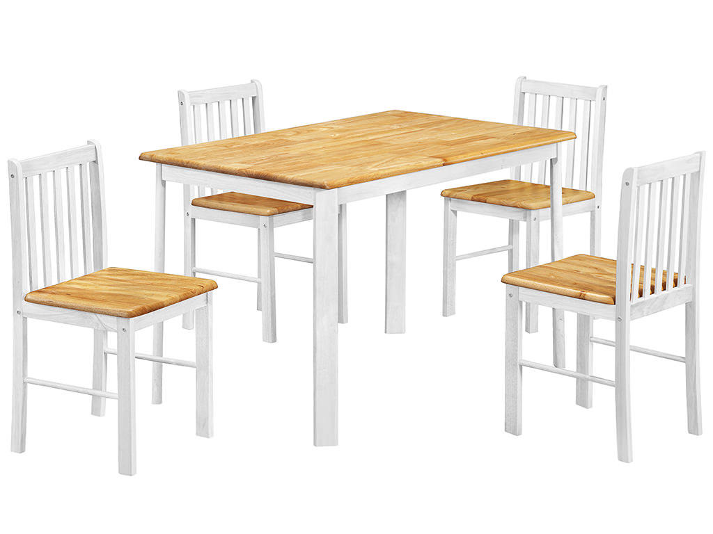 oak and white dining chairs diy room plans natural finish table chair set with